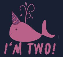 Pink Whale Birthday I'm Two! Kids Tee