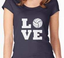 I Love Volleyball T-Shirt - Volleyball Lovers T-Shirt Women's Fitted Scoop T-Shirt