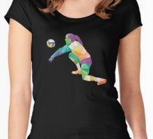 Volleyball Player Sport T-Shirt  Women's Fitted Scoop T-Shirt