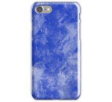Blue paint splattered on canvas iPhone Case/Skin