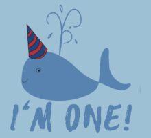 Blue Whale Birthday I'm One! Baby Tee