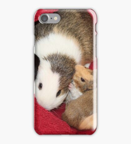 Cuddling up to Mom Holly iPhone Case/Skin