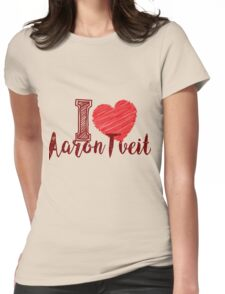 I Love Aaron Tveit Womens Fitted T-Shirt