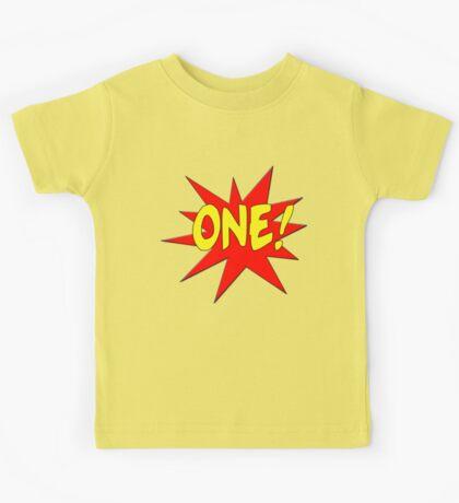 Superhero Kids Birthday Comic Style I'm One! Kids Tee