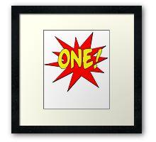 Superhero Kids Birthday Comic Style I'm One! Framed Print