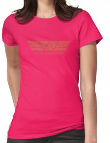 Weyland Corp - Distressed Red Womens Fitted T-Shirt