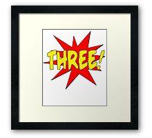 Superhero Kids Birthday Comic Style I'm Three! Framed Print