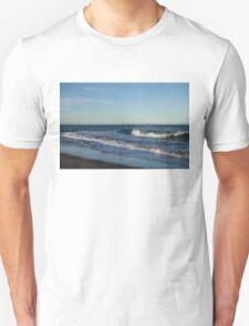 Seventeen Supply Ships Waiting - Aberdeen Scotland Beach Scene Unisex T-Shirt