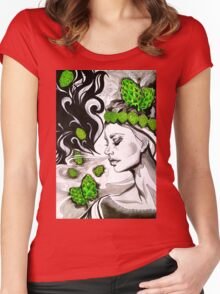 Smell of Fresh Hops Women's Fitted Scoop T-Shirt