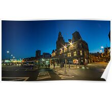 Newport Bus station at night  Poster
