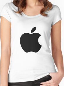 Apple logo (black) Women's Fitted Scoop T-Shirt