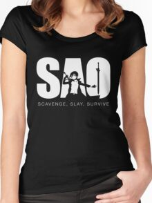 SAO Women's Fitted Scoop T-Shirt