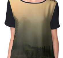 Wake Me Up When September Ends Chiffon Top