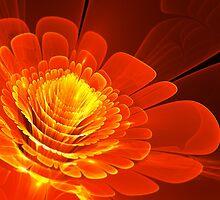 Fiery abstract blossom by MartinCapek