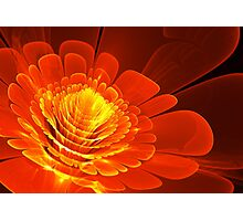 Fiery abstract blossom Photographic Print