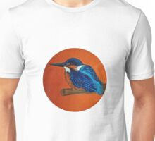 Kingfisher with copper background Unisex T-Shirt