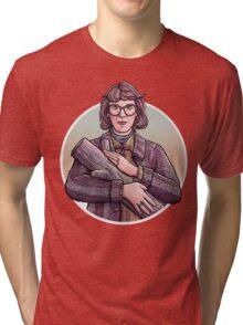 Log Lady, Twin Peaks Fan Art Tri-blend T-Shirt