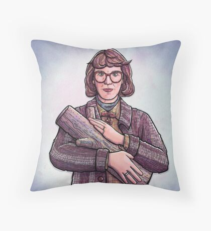 Log Lady, Twin Peaks Fan Art Throw Pillow