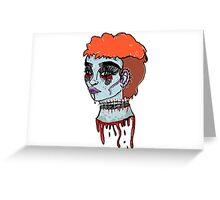 zombie grrl Greeting Card