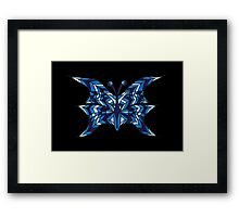 Blue Abstract Butterfly Framed Print