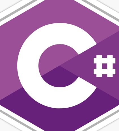 C# logo Sticker