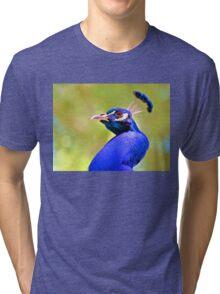 Peacock 3 Tri-blend T-Shirt