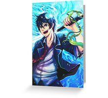 blue exorcist : Rin Greeting Card