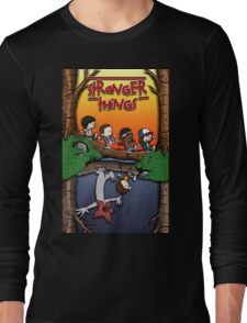 Calvin and Hobbes in the Upside Down Long Sleeve T-Shirt