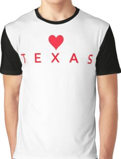 Texas with Heart Love Graphic T-Shirt