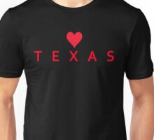 Texas with Heart Love Unisex T-Shirt