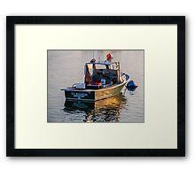 Lobster Boat Down East Maine Framed Print