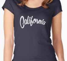 California - Vintage Style White Women's Fitted Scoop T-Shirt