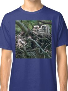Great Horned Owl Chicks Classic T-Shirt