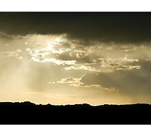 Golden Clouds over Badlands Photographic Print
