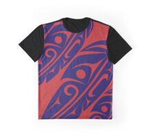 Four Feathers Navy on Red Graphic T-Shirt