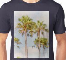 Palm Trees Santa Monica Beach California Unisex T-Shirt