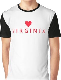 Virginia with Heart Love Graphic T-Shirt