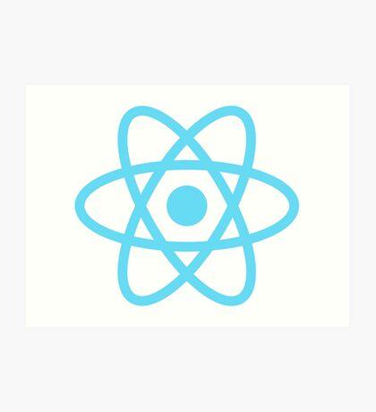 React logo Art Print