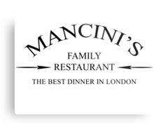 Mancini's Restaurant - Doctor Who Metal Print