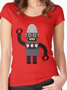 Funny robot Women's Fitted Scoop T-Shirt