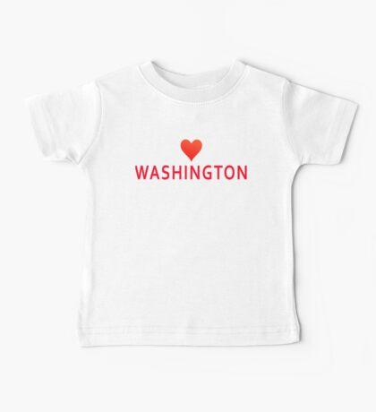 Washington with Heart Love Baby Tee