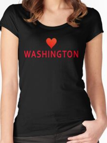 Washington with Heart Love Women's Fitted Scoop T-Shirt