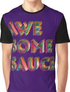 Awesome Sauce Typography Design  Graphic T-Shirt