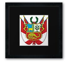 Peru Coat of Arms  If you like, please purchase an item, thanks Framed Print