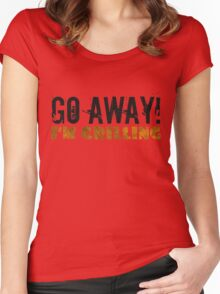 Go Away I'm Grilling Women's Fitted Scoop T-Shirt