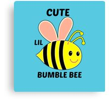 Cute Lil Bumble Bee Canvas Print