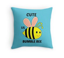 Cute Lil Bumble Bee Throw Pillow