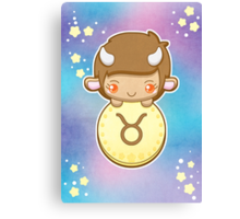 Kawaii Zodiac - Taurus Canvas Print