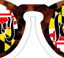 Maryland Flag Shades  Sticker