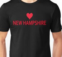 New Hampshire with Heart Love Unisex T-Shirt
